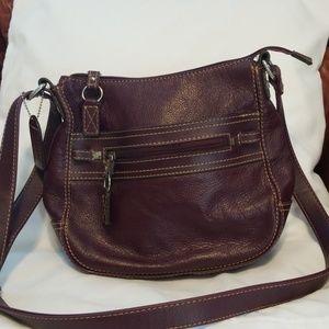 St John's Bay Purple Leather Purse
